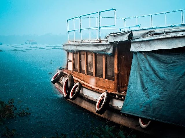How would you like to be in a boat on the backwaters of Kerala on a rainyday.